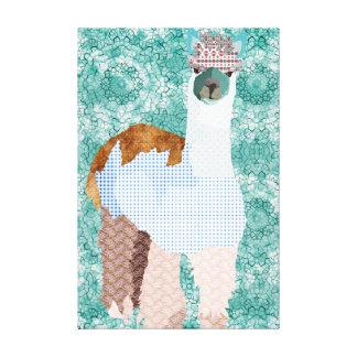 Canvas de arte da alpaca do vintage impressão de canvas esticadas