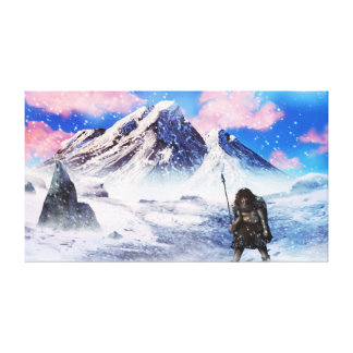Canvas de arte da idade do gelo do homem das caver impressão de canvas esticada