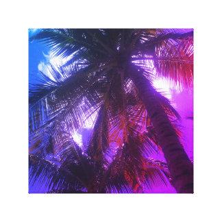 Canvas de arte da palmeira