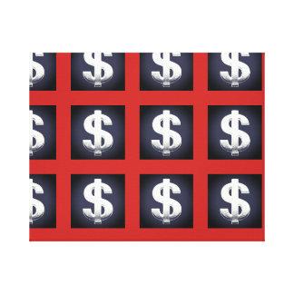 Canvas de arte da parede dos sinais de dólar