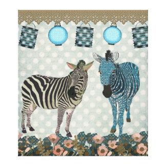 Canvas de arte das zebras do zen impressão em tela