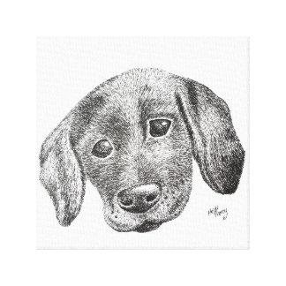 Canvas de arte do filhote de cachorro