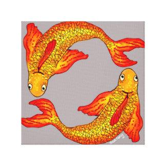 Canvas de arte do zodíaco dos peixes dos peixes