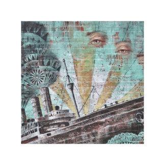 Canvas de arte dos grafites do observador do barco