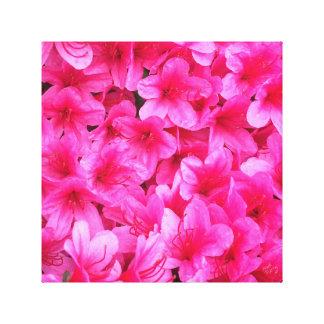 Canvas de arte florais cor-de-rosa bonito