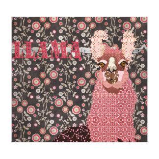Canvas de arte florais do vintage cor-de-rosa de