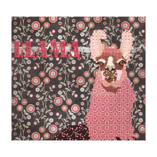 Canvas de arte florais do vintage cor-de-rosa de impressão em tela