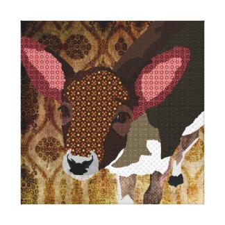 Canvas de arte queridas dos cervos do ouro do vint impressão em tela