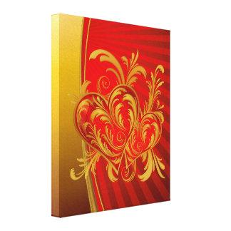 Canvas de dois corações impressão em tela canvas