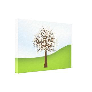Canvas de florescência brancas da árvore impressão em tela