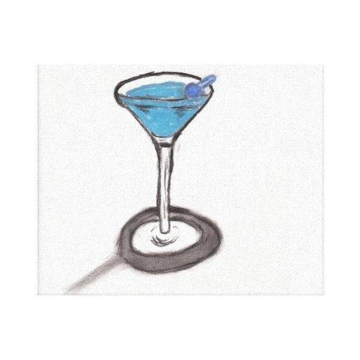 Canvas de Martini do carvão vegetal Impressão De Canvas Esticadas