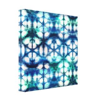 Canvas de Shibori de água-marinha