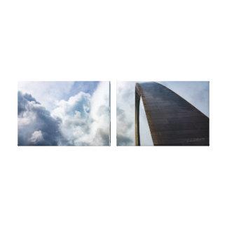Canvas de St Louis MO | 36x12 2X do arco da