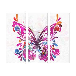 Canvas decorativas da borboleta da jóia impressão em tela