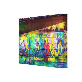 Canvas digitais vibrantes da parede da pintura