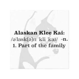 Canvas do Alasca de Klee Kai