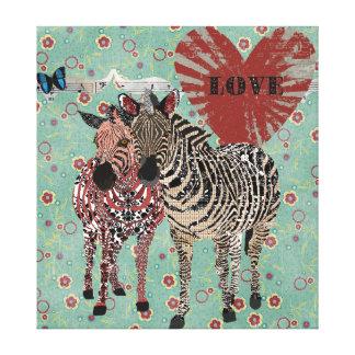 Canvas do amor de Zenya & de Zeb Impressão Em Tela Canvas