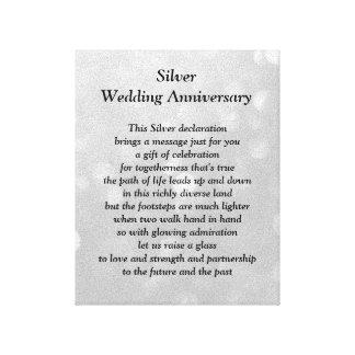 Canvas do aniversário de casamento de prata