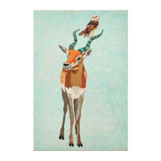 Canvas do antílope & da coruja impressão em tela