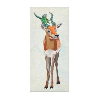 Canvas do ANTÍLOPE & do PAPAGAIO Impressão Em Tela