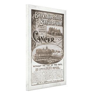 Canvas do anúncio do sanatório do vintage desde 18 impressão de canvas envolvidas