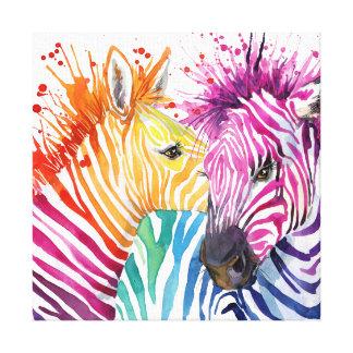Canvas do arco-íris da zebra