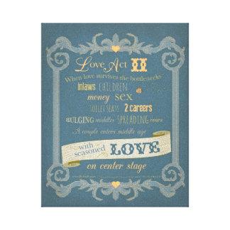 Canvas do ato II do amor Impressão Em Tela