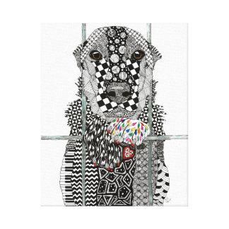 """Canvas do cão do abrigo animal - 16"""" x20 """""""