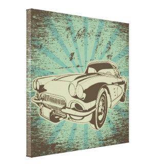 Canvas do carro do vovô impressão em tela