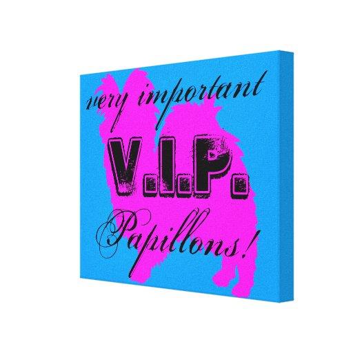 Canvas do envoltório do VIP Papillon Impressão De Canvas Envolvidas