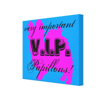 Canvas do envoltório do VIP Papillon Impressão Em Tela