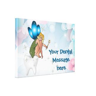 Canvas do escritório do dentista impressão em tela