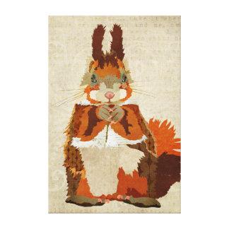 Canvas do esquilo vermelho impressão em tela