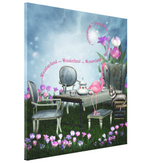 Canvas do flamingo do país das maravilhas & do