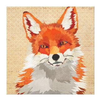 Canvas do Fox vermelho Impressão Em Tela