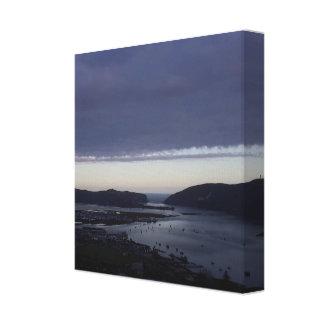 Canvas do impressão da lagoa