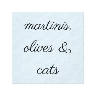 Canvas do impressão dos Martinis, das azeitonas &
