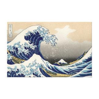 """Canvas do Kanagawa de Hokusai """"a grande onda fora"""""""