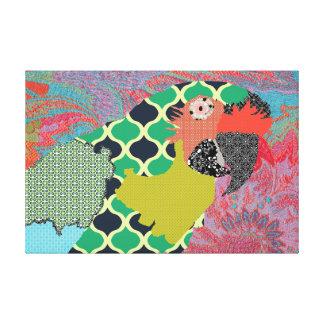 Canvas do Macaw de Molly Impressão De Canvas Envolvida
