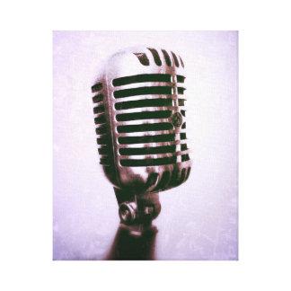 Canvas do microfone do vintage