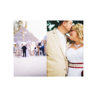 Canvas do noivo da noiva das memórias do casamento impressão em tela