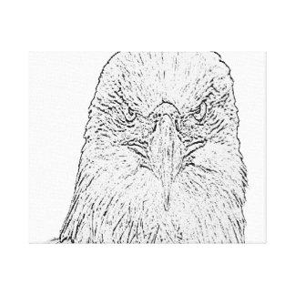 Canvas do olhar fixo de Eagle