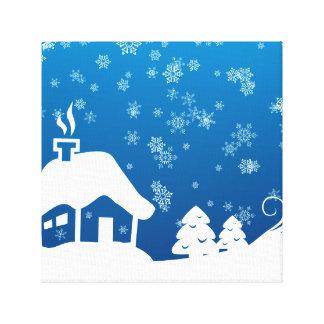 Canvas do país das maravilhas do inverno impressão em tela