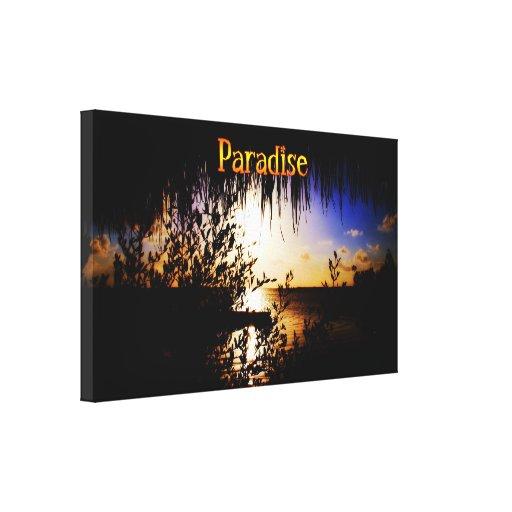 Canvas do paraíso impressão de canvas esticada