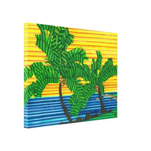 Canvas do PARAÍSO da PALMEIRA de Jared Impressão De Canvas Envolvida