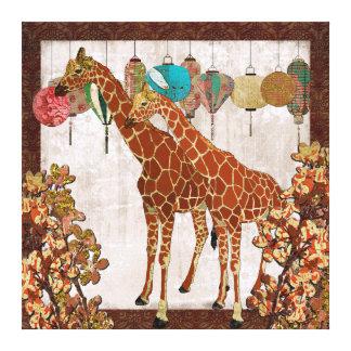 Canvas do partido de jardim da flor de cerejeira d impressão de canvas envolvida