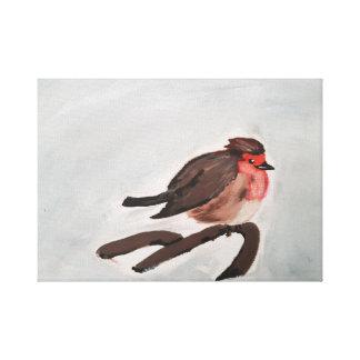 Canvas do pisco de peito vermelho