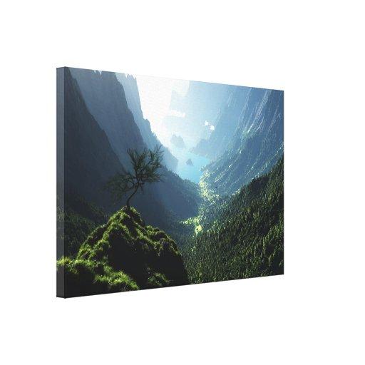 Canvas do primavera das montanhas impressão em tela canvas