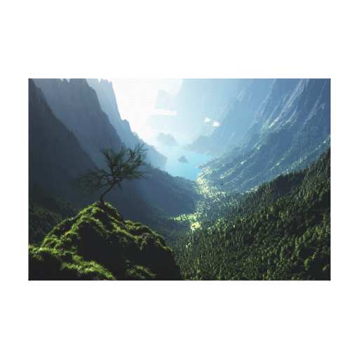 Canvas do primavera das montanhas impressão em tela