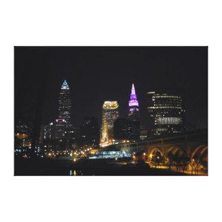 Canvas do roxo da opinião do rio de Cleveland OH